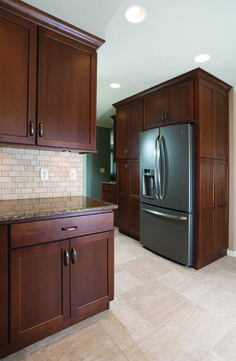 Designed By Brooke With Todayu0027s StarMark Custom Cabinetry U0026 Furniture. StarMark  Cabinetry Roseville Door Style In Cherry Finished In Cappuccino.
