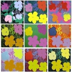 Warhol flowers | Sérigraphie de Andy Warhol (After), Flowers - 10 silkscreens sur ...