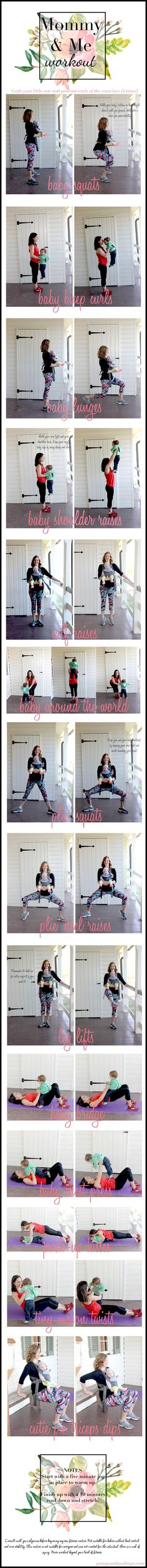 mommy and me workout | pumps and push-ups