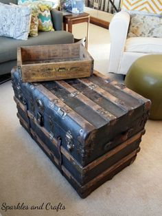 Flea Market Finds - I've always wanted a trunk for a coffee table