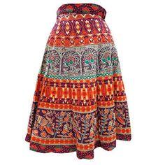 Mogulinterior Wrap Skirt Traditionally Printed Boho Skirt #regularskirt #bohoskirt #gypsyskirt #hippieskirt #maxiskirt #longskirt #wraparoundskirt #summerskirt #cottonskirt #mogulinterior.com