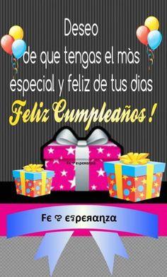 Spanish Birthday Wishes, Happy Birthday Wishes Song, Happy Birthday Cake Images, Happy Birthday Messages, Happy Birthday Greetings, Unicorn Birthday Parties, Birthday Posts, Birthday Quotes, Happy B Day