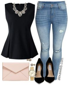 Plus Size Mini Capsule Wardrobe - Plus Size Fashion for Women - http://Alexawebb.com #alexawebb http://fancytemplestore.com