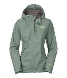 The North Face Women's Dryzzle Gore-Tex Rain Jacket / 11.3oz / Head into the depths of the wilderness and remain dry during springtime storms with this lightweight Gore-Tex PacLite; hooded shell that features a waterproof, windproof construction with fully sealed seams to create an impenetrable barrier.
