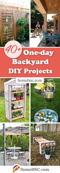 One-Day Backyard Projects Backyard Projects, Diy Projects, Backyard Ideas, Outdoor Spaces, Cool Designs, Outdoor Structures, Outdoor Decorations, Awesome, Backyard Designs
