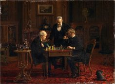 """The Chess Players"" (1876) → Thomas Eakins."