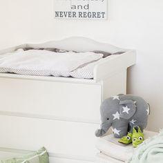 """""""Nube 4"""" Cambiador superior con cabecero para todas las cómodas Malm de IKEA"""