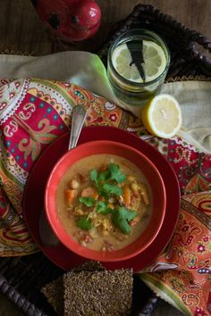 #Vegan Spicy Chickpea & Brown Rice Soup by An Unrefined Vegan