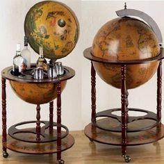 Eucalyptus Bar Globe Drinks Cabinet: Amazon.co.uk: Kitchen & Home-£99.95
