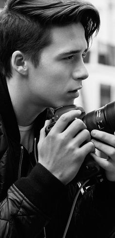 Brooklyn Beckham captures the Burberry Brit fragrance campaign in London.