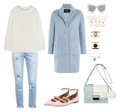 """""""774"""" by julialeskiv ❤ liked on Polyvore featuring Paige Denim, Simone Rocha, Tara Jarmon, Givenchy, Le Specs, Michael Kors, Style & Co., Forever 21 and pastel"""