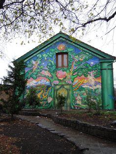 Christiania free community, squatted former NATO base, near København (Copenhagen), Denmark.