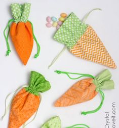 Easter is right around the corner so now is a great time to hop into some spring sewing! Today we are sharing a tutorial to make a carrot treat bag, a perfect addition to your little one's Easter basket! These little carrot treat bags hold lots ...