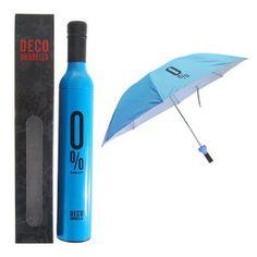 Paraguas Botella Celeste