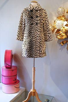 60s Coat // Vintage 1960s Cheetah Print Faux Fur by xtabayvintage, $198.00