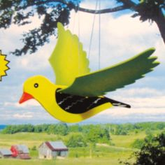 Garden Flying Wildlife Outdoor Mobile - Canary