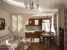 дизайн перегородки между кухней и гостиной: 21 тыс изображений найдено в…