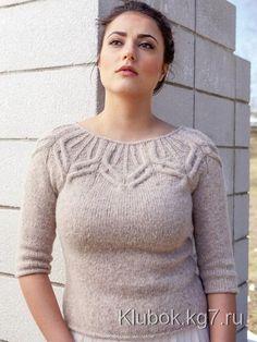 Женский пуловер без швов от Norah Gaughan вязаный спицами | Клубок