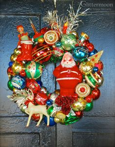 Mid-Century Memories Wreath ©Glittermoon Vintage Christmas 2014