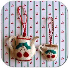 Tea Ornaments (Felt)
