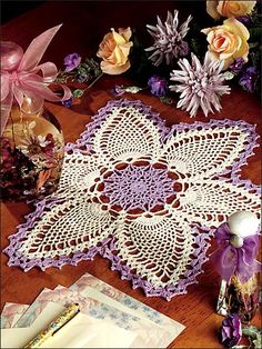 Passing Fancy Doily LOVE the color change. Will have to try this one for myself. NO Pattern for this. Just thought the color changes were a good reference