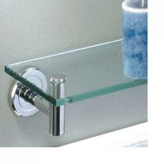 Latitude II Brass Tempered Glass Shelf - Bathroom Shelves - Bathroom Accessories…