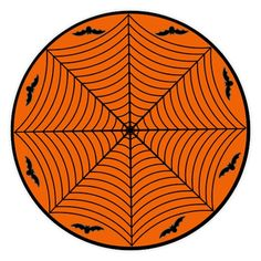 Halloween Table Cloth browsing on thisnext Spider Web And Bats Orange Round Tablecloth Easy Halloween Party Decor For Kids Or Adults