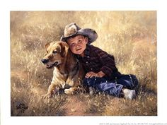 A boy and his dog - best friends forever.