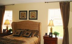 Thick brown drapes - Contemporary Headboard Ideas for your Modern Bedroom