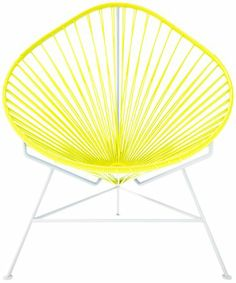 Innit Baby Acapulco Chair   Yellow Weave/ White Frame   Best Price