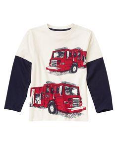 Fire Trucks Long Sleeve Tee at Gymboree