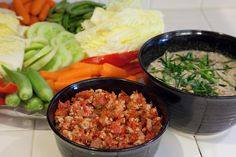 Two recipes for delicious veggies dips from Thailand.  One is tomato-y and the other has a coconut milk-lemongrass flavor.  via: You CAN Bottle Success | Epicurean Travels