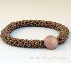 Handcrafted Russian Spiral Beadwoven Bracelet by denssilverlinings, $25.00