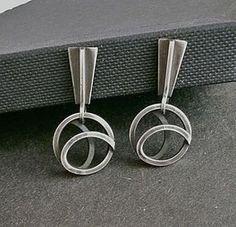Sterling Modernist Earrings Paul Lobel Mid Century