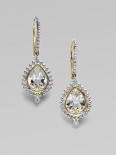 jude frances white topaz diamond 18k gold & sterling silver earrings
