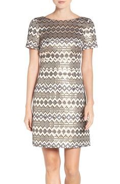 Vince Camuto Jacquard A-Line Dress (Regular & Petite) available at #Nordstrom