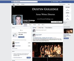 Professional page on Facebook for actor Dustyn Gulledge.