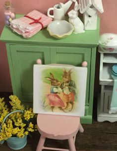 A personal favorite from my Etsy shop https://www.etsy.com/listing/264588347/miniature-spring-vintage-rabbit-couple