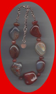 EDE Genuine Red Agate and Carnelian Necklace http://www.EDEnterprises.biz