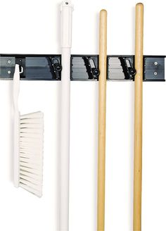 carlisle roll n grip mop broom and tool holder storage system 3 - Broom Holder