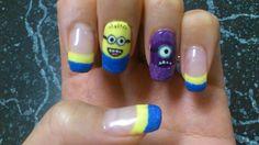 Despicable me 2!! Despicable Me 2, Nail Art, Nails, Beauty, Beleza, Ongles, Finger Nails, Nail Arts, Art Nails