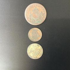 3x Portugal Brasil Coins incl 1795 10 Reis & 1829 40 Reis