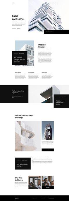 Build Awesome - Landing Page on Behance - UI Design Board Website Design Inspiration, Landing Page Inspiration, Website Layout, Web Layout, Layout Design, Web Design Mobile, Web Ui Design, Design Design, Flat Design