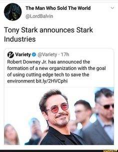 Picture memes 1 comment — iFunny The Man Who Sold The World Tony Stark announces Stark Industries a Variety a – Robert Downey Jr. Marvel Jokes, Avengers Memes, Marvel Funny, Marvel Avengers, Marvel Comics, Avengers Poster, Avengers Imagines, Avengers Characters, Avengers Cast