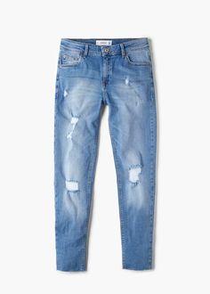 Gekürzte skinny jeans isa - Jeans für Damen   MANGO