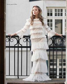 Zara Larsson in Carmine Maxi white