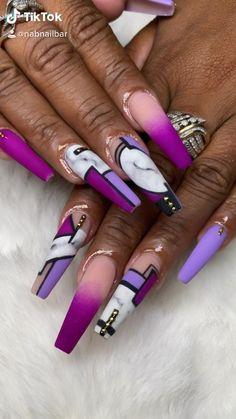 Shades of Purple and marble freestyle line work nail art designs by NAB Nail Bar Las Vegas Book Today Text or call 702-577-1680 www.nabnailbar.com 8891 W Flamingo Rd Las Vegas NV 89147 NAB Nail Bar