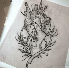 1 Tattoo, Dark Tattoo, Tattoo Outline, Tattoo Flash, Traditional Tattoo Old School, Neo Traditional Tattoo, American Traditional, Tattoo Sketches, Tattoo Drawings