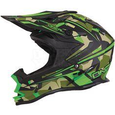 Oneal 2017 7 Series Evo Camo Matte Green Helmet at MXstore Ktm Dirt Bikes, Dirt Bike Helmets, Dirt Bike Gear, Dirt Biking, Bmx Bikes, Oneal Motocross, Motocross Helmets, Racing Helmets, Motorcycle Style