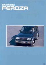 1996 Daihatsu Feroza SUV Jeep Sales Brochure wk4039-441UOM